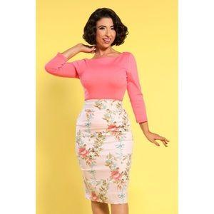 Laura Byrnes Sabrina Top in Coral Pink